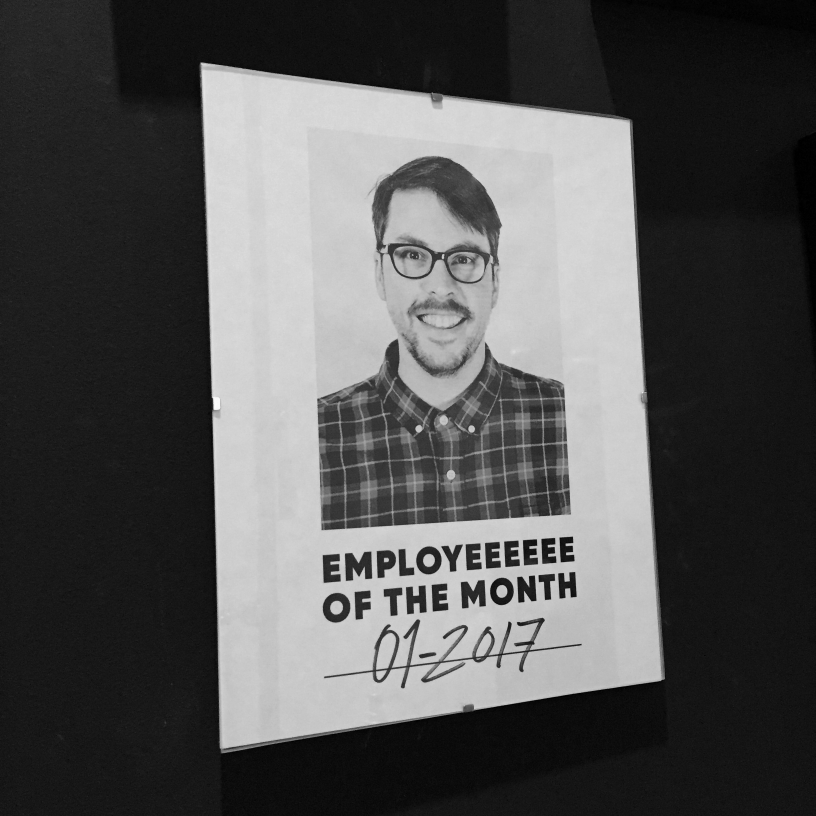 Employeeeee of the Month / January 2017